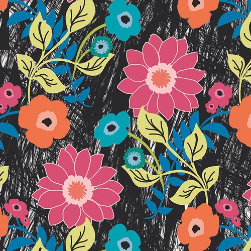 Jungle Ave by Sara Lawson - Floral Asphalt