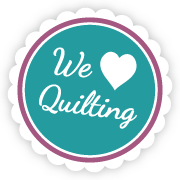 We Love Quilting Badge